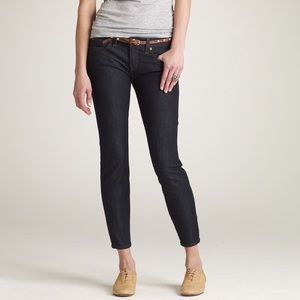 J. Crew toothpick ankle skinny in twilight wash 27